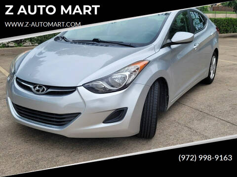 2013 Hyundai Elantra for sale at Z AUTO MART in Lewisville TX