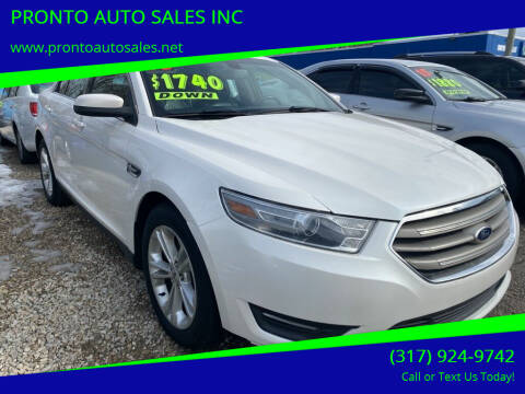 2013 Ford Taurus for sale at PRONTO AUTO SALES INC in Indianapolis IN