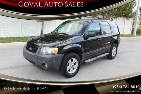 2006 Ford Escape for sale at Goval Auto Sales in Pompano Beach FL