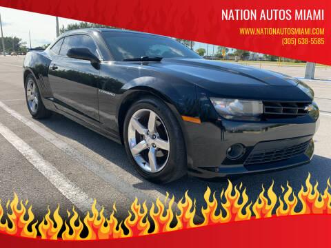 2014 Chevrolet Camaro for sale at Nation Autos Miami in Hialeah FL
