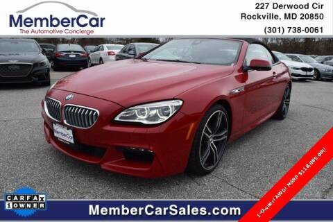 2018 BMW 6 Series for sale at MemberCar in Rockville MD