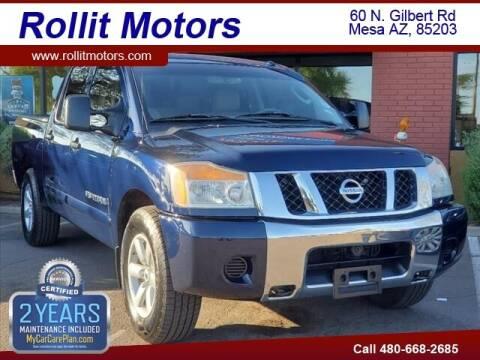 2008 Nissan Titan for sale at Rollit Motors in Mesa AZ