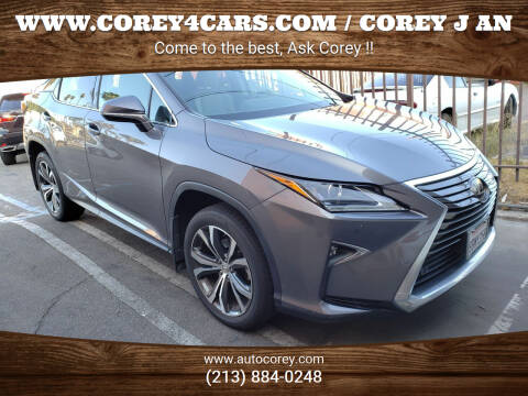2017 Lexus RX 350 for sale at WWW.COREY4CARS.COM / COREY J AN in Los Angeles CA