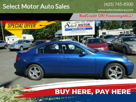 2003 Infiniti G35 for sale at Select Motor Auto Sales in Lynnwood WA