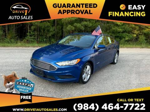 2018 Ford Fusion Hybrid for sale at Drive 1 Auto Sales in Wake Forest NC