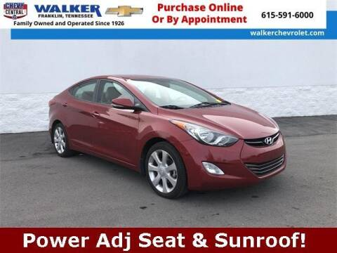 2013 Hyundai Elantra for sale at WALKER CHEVROLET in Franklin TN