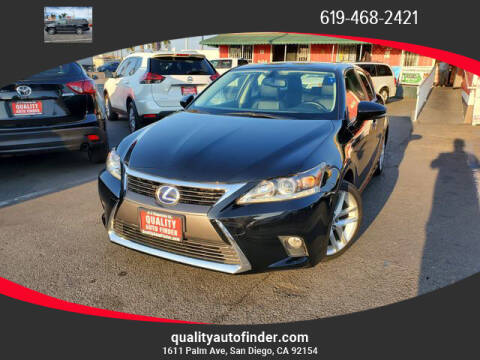 2016 Lexus CT 200h for sale at QUALITY AUTO FINDER in San Diego CA