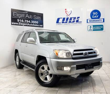 2004 Toyota 4Runner for sale at Elegant Auto Sales in Rancho Cordova CA