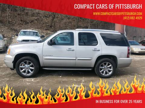 2007 GMC Yukon for sale at Compact Cars of Pittsburgh in Pittsburgh PA