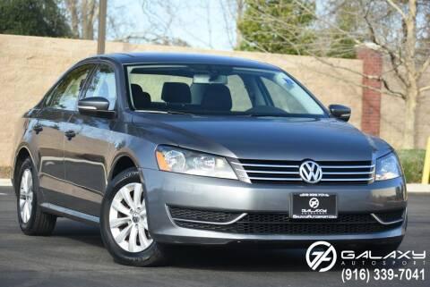 2013 Volkswagen Passat for sale at Galaxy Autosport in Sacramento CA