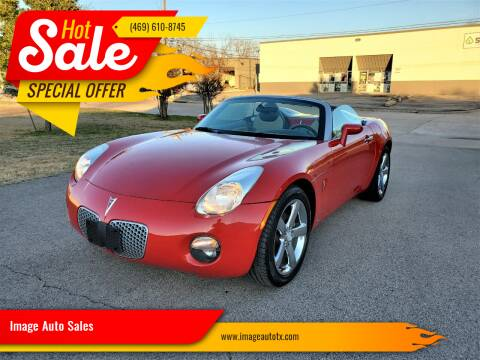 2007 Pontiac Solstice for sale at Image Auto Sales in Dallas TX