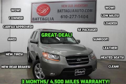 2008 Hyundai Santa Fe for sale at Battaglia Auto Sales in Plymouth Meeting PA