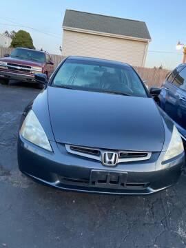 2003 Honda Accord for sale at Allan Auto Sales, LLC in Fall River MA