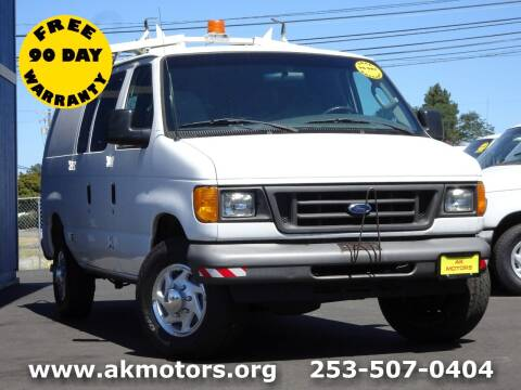 2007 Ford E-Series Cargo for sale at AK Motors in Tacoma WA