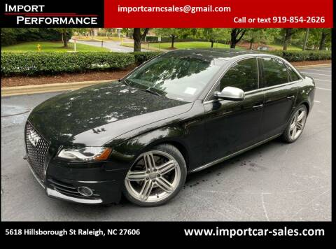 2010 Audi S4 for sale at Import Performance Sales in Raleigh NC
