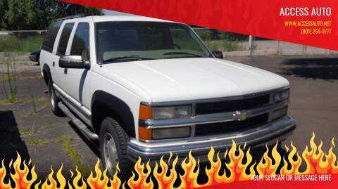 1999 Chevrolet Suburban for sale at Access Auto in Salt Lake City UT