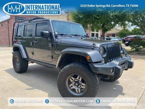 2016 Jeep Wrangler Unlimited for sale at International Motor Productions in Carrollton TX