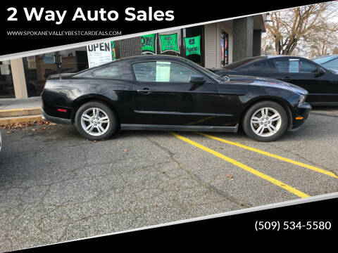 2012 Ford Mustang for sale at 2 Way Auto Sales in Spokane Valley WA