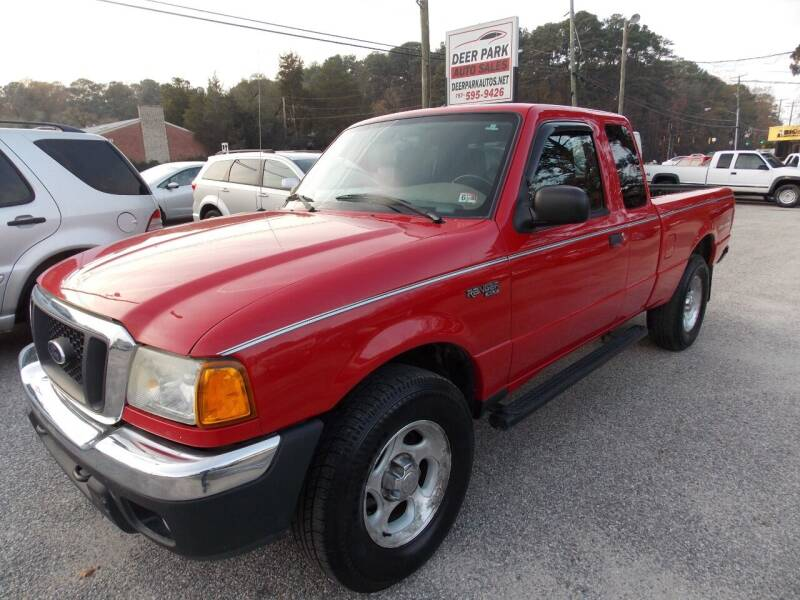 2004 Ford Ranger for sale at Deer Park Auto Sales Corp in Newport News VA