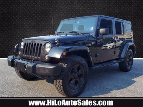 2014 Jeep Wrangler Unlimited for sale at Hi-Lo Auto Sales in Frederick MD
