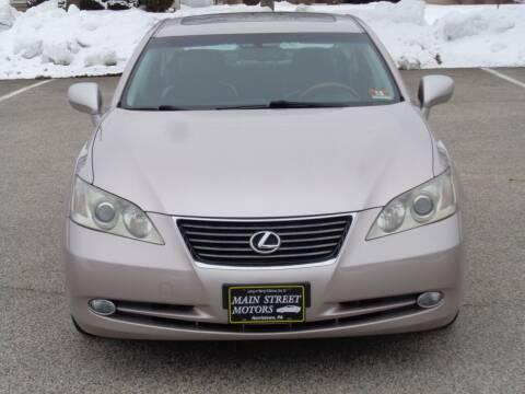 2007 Lexus ES 350 for sale at MAIN STREET MOTORS in Norristown PA