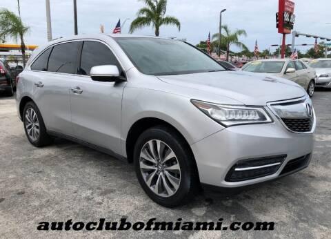 2015 Acura MDX for sale at AUTO CLUB OF MIAMI, INC in Miami FL