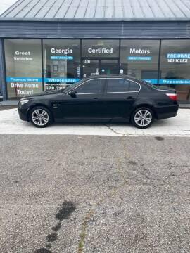 2010 BMW 5 Series for sale at Georgia Certified Motors in Stockbridge GA