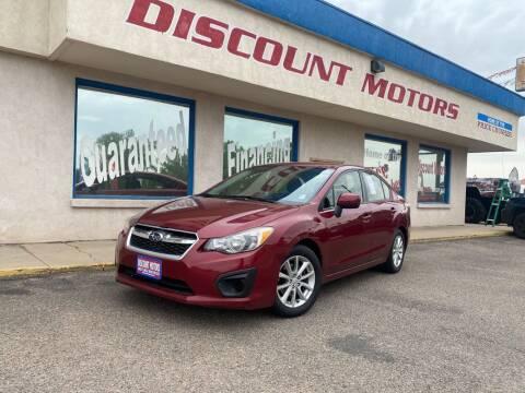 2013 Subaru Impreza for sale at Discount Motors in Pueblo CO