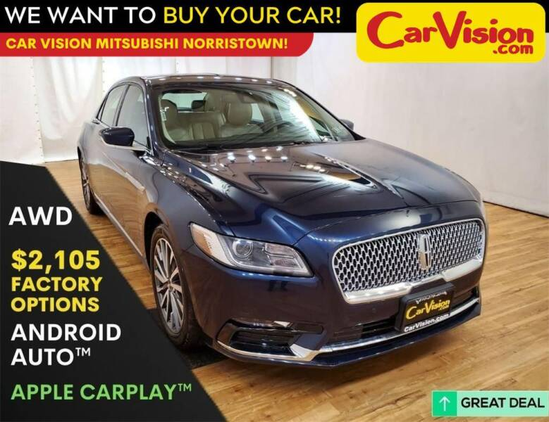 2017 Lincoln Continental for sale in Trooper, PA