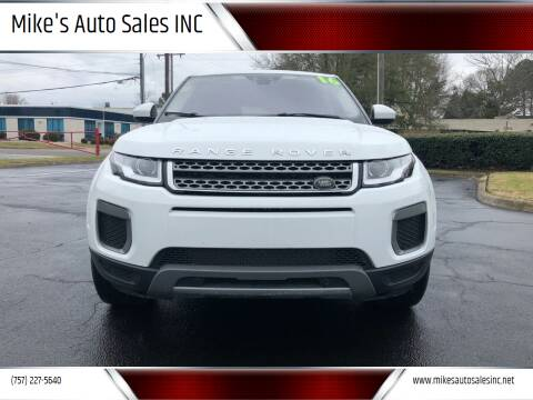 2016 Land Rover Range Rover Evoque for sale at Mike's Auto Sales INC in Chesapeake VA