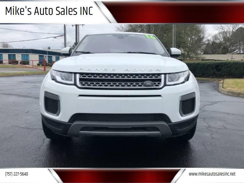 2016 Land Rover Range Rover Evoque for sale at Mike's Auto Sales INC in Chesapeake VA