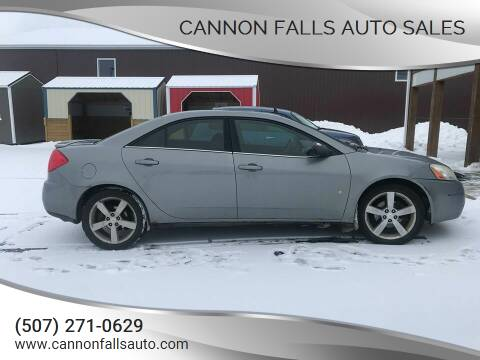2008 Pontiac G6 for sale at Cannon Falls Auto Sales in Cannon Falls MN