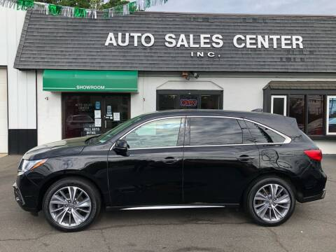 2017 Acura MDX for sale at Auto Sales Center Inc in Holyoke MA