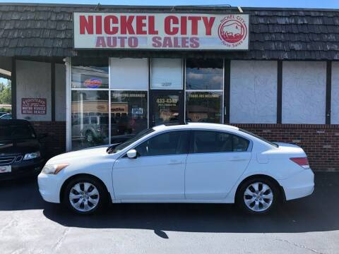 2009 Honda Accord for sale at NICKEL CITY AUTO SALES in Lockport NY
