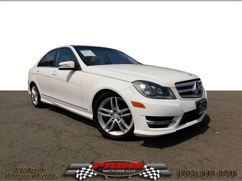 2012 Mercedes-Benz C-Class for sale at PRIME MOTORS LLC in Arlington VA
