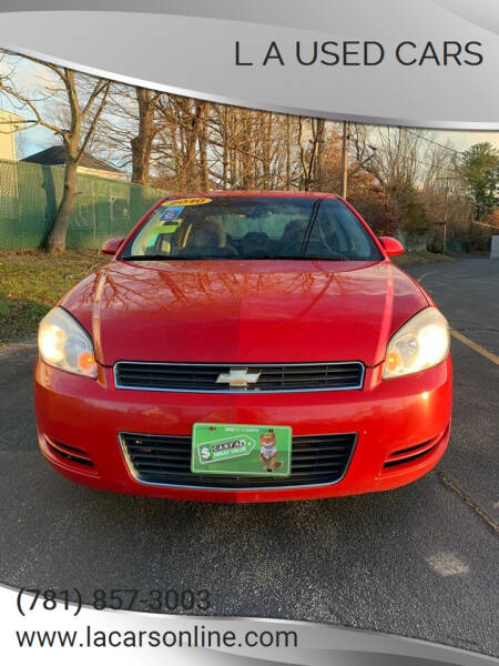 2010 Chevrolet Impala for sale at L A Used Cars in Abington MA