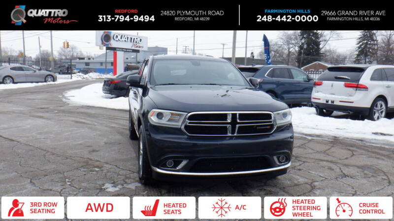 2014 Dodge Durango for sale at Quattro Motors 2 - 1 in Redford MI