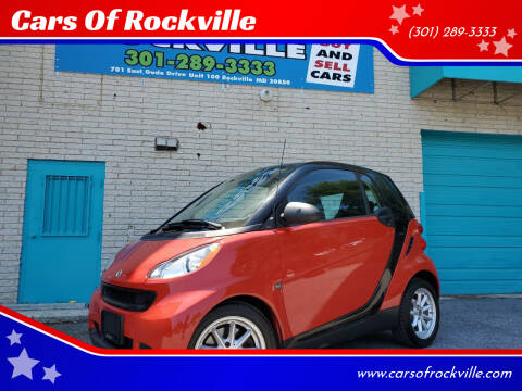 2009 Smart fortwo for sale at Cars Of Rockville in Rockville MD