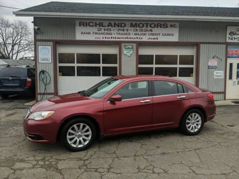 2012 Chrysler 200 for sale at Richland Motors in Cleveland OH
