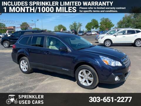 2013 Subaru Outback for sale at Sprinkler Used Cars in Longmont CO