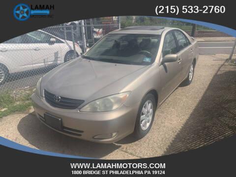 2004 Toyota Camry for sale at LAMAH MOTORS INC in Philadelphia PA