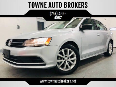 2015 Volkswagen Jetta for sale at TOWNE AUTO BROKERS in Virginia Beach VA
