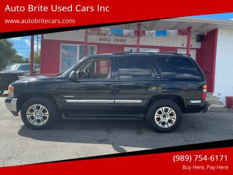 2001 GMC Yukon for sale at Auto Brite Used Cars Inc in Saginaw MI