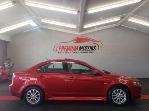 2013 Mitsubishi Lancer for sale at Premium Motors in Villa Park IL