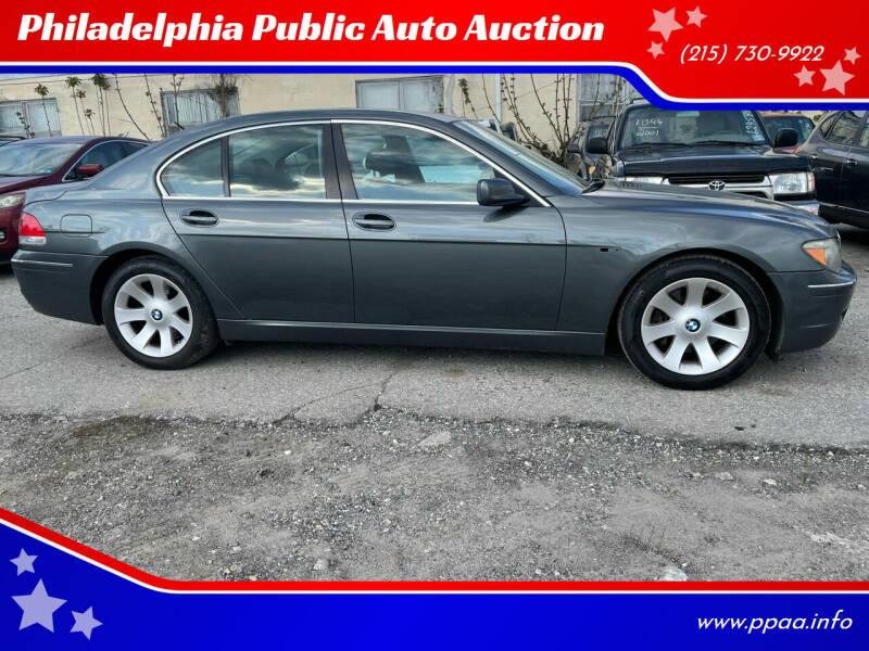 2007 BMW 7 Series for sale at Philadelphia Public Auto Auction in Philadelphia PA