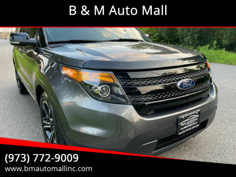 2015 Ford Explorer for sale at B & M Auto Mall in Clifton NJ