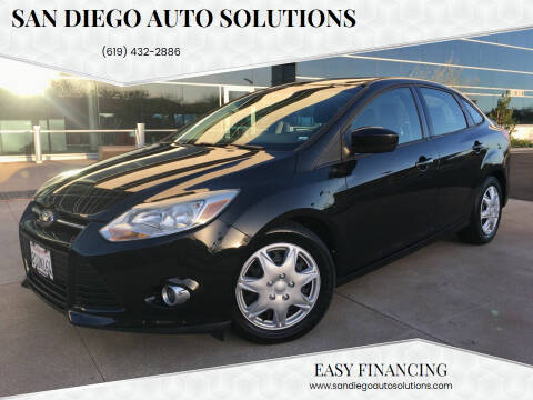 2012 Ford Focus for sale at San Diego Auto Solutions in Escondido CA