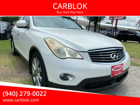 2008 Infiniti EX35 for sale at CARBLOK in Lewisville TX