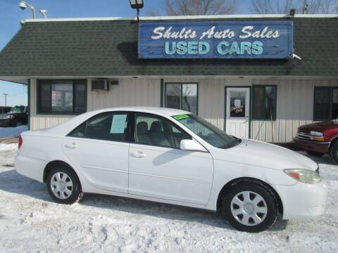 2004 Toyota Camry for sale at SHULTS AUTO SALES INC. in Crystal Lake IL