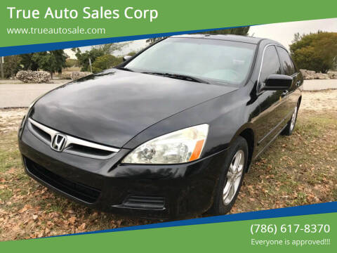 2006 Honda Accord for sale at True Auto Sales Corp in Miami FL